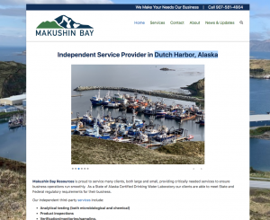 Newly completed Makushin Bay Resources website